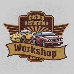 Создание дизайна и разработка логотипа для компании «Custom Restorations Workshop»
